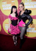 Musicians Susie Brown and Danelle Leverett of the JaneDear Girls attend the 2011 CMT Music Awards at the Bridgestone Arena on June 8 2011 in...