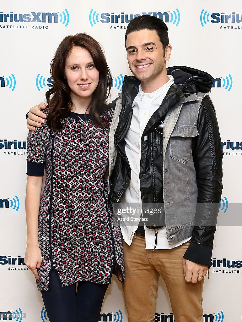 Musicians Suzie Zeldin and <a gi-track='captionPersonalityLinkClicked' href=/galleries/search?phrase=Chris+Carrabba&family=editorial&specificpeople=214638 ng-click='$event.stopPropagation()'>Chris Carrabba</a> of Twin Forks visit the SiriusXM Studios on September 24, 2013 in New York City.