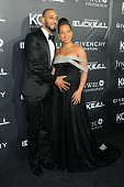 Musicians Swizz Beats and Alicia Keys attends the 9th annual Keep A Child Alive Black Ball at Hammerstein Ballroom on October 30 2014 in New York City