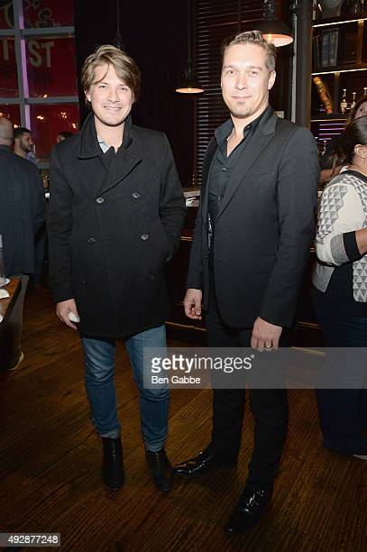 Musicians Taylor Hanson and Isaac Hanson attend Tacos Tequila presented by Mexico hosted by Aaron Sanchez during Food Network Cooking Channel New...