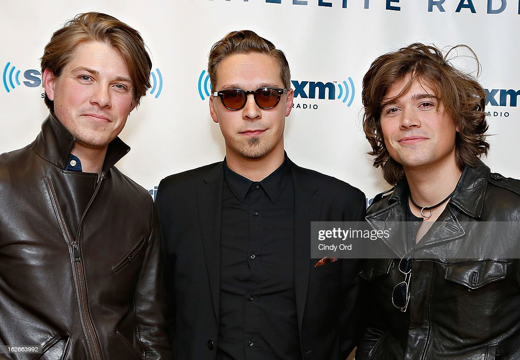 Musicians <a gi-track='captionPersonalityLinkClicked' href=/galleries/search?phrase=Taylor+Hanson&family=editorial&specificpeople=210666 ng-click='$event.stopPropagation()'>Taylor Hanson</a> ,<a gi-track='captionPersonalityLinkClicked' href=/galleries/search?phrase=Isaac+Hanson&family=editorial&specificpeople=213257 ng-click='$event.stopPropagation()'>Isaac Hanson</a> and <a gi-track='captionPersonalityLinkClicked' href=/galleries/search?phrase=Zac+Hanson+-+Musician&family=editorial&specificpeople=206818 ng-click='$event.stopPropagation()'>Zac Hanson</a> of Hanson visit the SiriusXM Studios on February 25, 2013 in New York City.