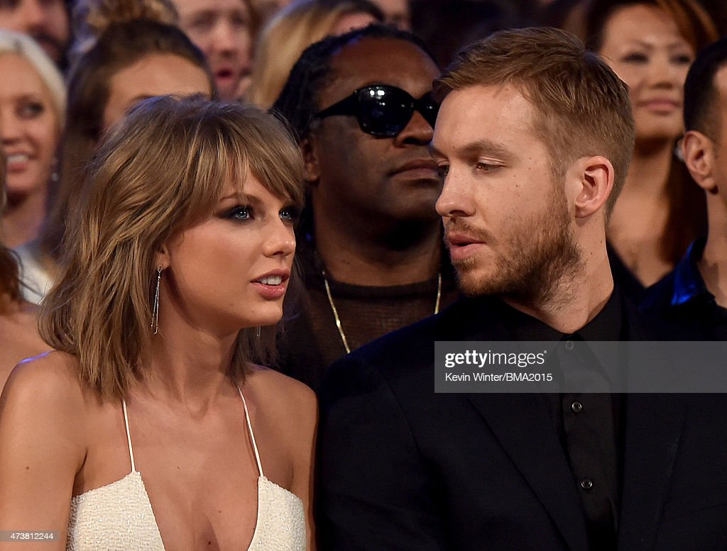 Musicians Taylor Swift and Calvin Harris attend the 2015 Billboard Music Awards at MGM Grand Garden Arena on May 17 2015 in Las Vegas Nevada