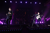Musicians Tegan Quin and Sara Quin of Tegan and Sara perform onstage at the Hollywood Palladium on November 18 2014 in Hollywood California