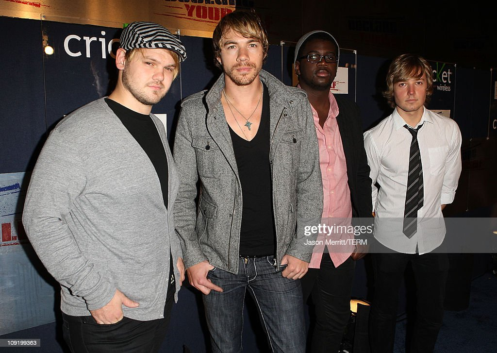 Musicians The Plain White T's arrive at the Declare Yourself Hollywood Turns 18 at the Beverly Hills Cultural Arts Center on September 27 2007 in...
