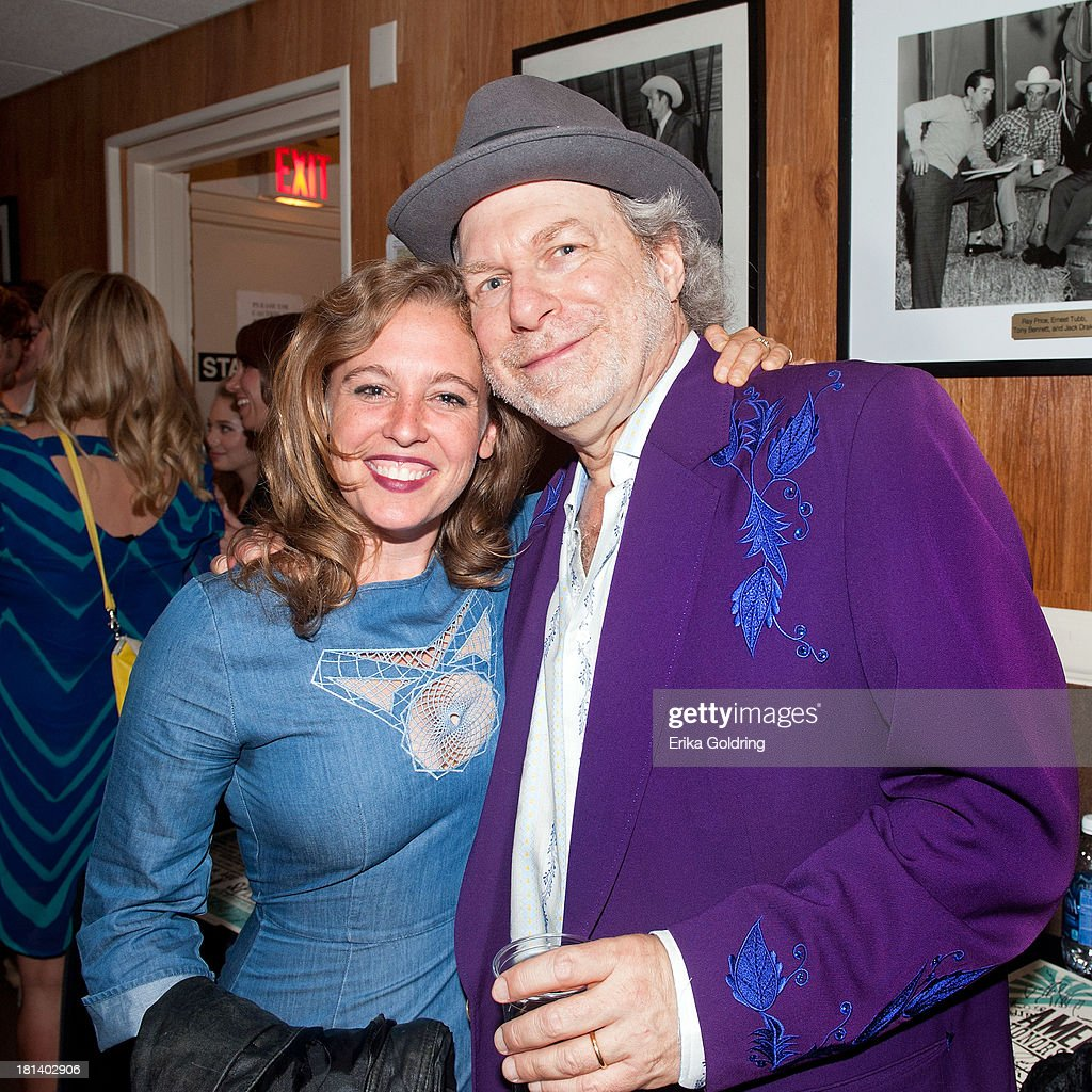 Musicians Tift Merritt and Buddy Miller backstage at the 12th Annual Americana Music Honors And Awards Ceremony Presented By Nissan on September 18, 2013 in Nashville, United States.