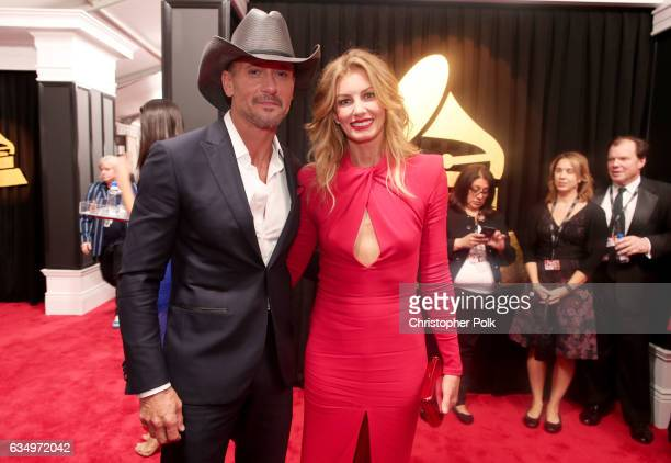 Musicians Tim McGraw and Faith Hill attend The 59th GRAMMY Awards at STAPLES Center on February 12 2017 in Los Angeles California