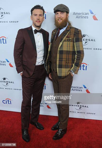 Musicians TJ Osborne and John Osborne of Brothers Osborne arrive at Universal Music Group's 2016 GRAMMY After Party at The Theatre At The Ace Hotel...