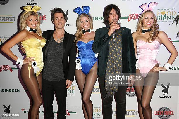 Musicians Todd Morse and Marko DeSantis arrive at Lucky Strike Live and Playboy's 'Bowling With Bunnies' event benefiting Los Angeles Regional Food...