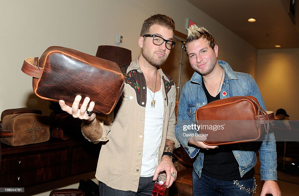 Musicians Tom Gossin (L) and Mike Gossin of Gloriana attend the Backstage Creations Celebrity Retreat at 2012 American Country Awards at the Mandalay Bay Events Center on December 9, 2012 in Las Vegas, Nevada.