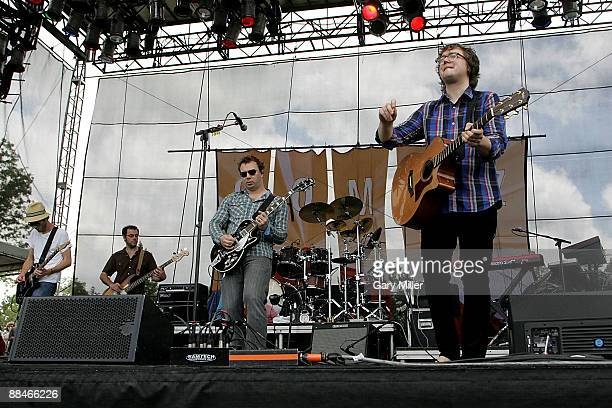 Musicians Tom Gray Paul Blackburn Ben Ottewell and Ben Ottewell of Gomez performs during the 2009 Bonnaroo Music and Arts Festival on June 12 2009 in...