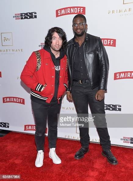 Musicians Tom Higgenson and De'Mar Hamilton attend the Primary Wave 11th Annual PreGRAMMY Party at The London West Hollywood on February 11 2017 in...