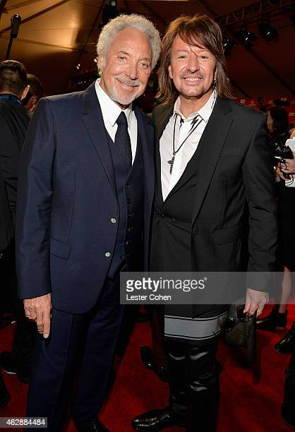 Musicians Tom Jones and Richie Sambora attend the 25th anniversary MusiCares 2015 Person Of The Year Gala honoring Bob Dylan at the Los Angeles...