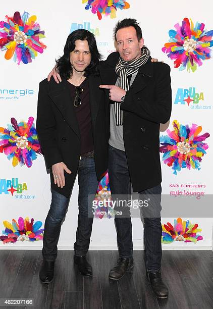 Musicians Tommy Black and and Scott Weiland attend Kari Feinstein's Style Lounge Presented By Aruba Day 3 on January 25 2015 in Park City Utah