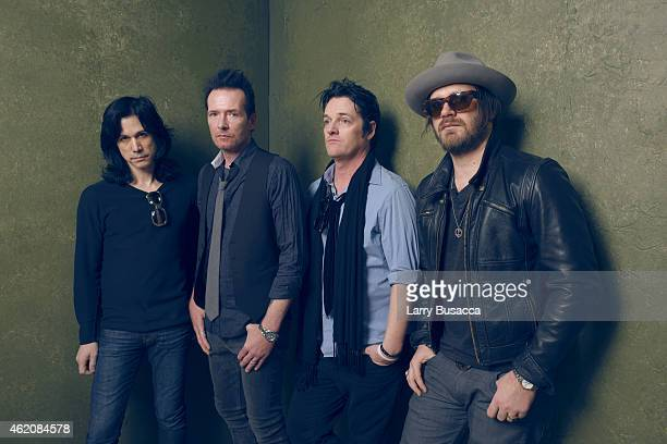 Musicians Tommy Black Scott Weiland Jeremy Brown and Danny Thompson pose for a portrait at the Village at the Lift Presented by McDonald's McCafe...