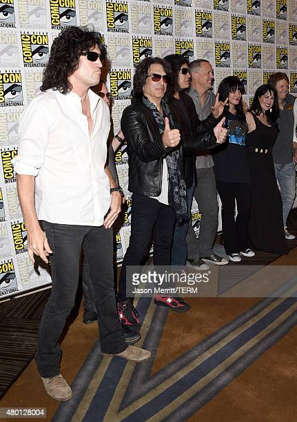 Musicians Tommy Thayer Eric Singer Paul Stanley Gene Simmons of Kiss actors Matthew Lillard Pauley Perrette Grey Griffin and writer/producer Kevin...