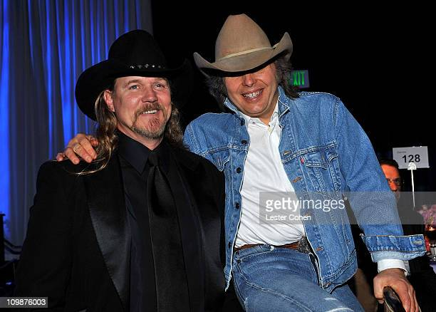 Musicians Trace Adkins and Dwight Yoakam attend the 2009 GRAMMY Salute To Industry Icons honoring Clive Davis at the Beverly Hilton Hotel on February...