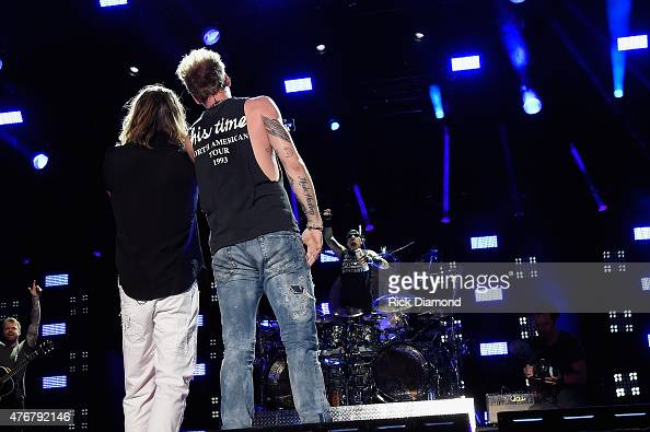 Musicians Tyler Hubbard and Brian Kelley of Florida Georgia Line perform onstage during the 2015 CMA Festival on June 11 2015 in Nashville Tennessee