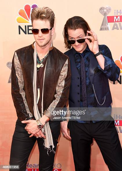 Musicians Tyler Hubbard and Brian Kelley of Florida Georgia Line attend the 2015 iHeartRadio Music Awards which broadcasted live on NBC from The...