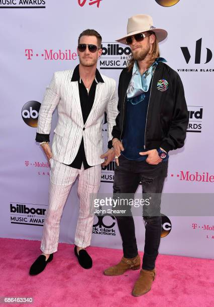 Musicians Tyler Hubbard and Brian Kelley of Florida Georgia Line attend the 2017 Billboard Music Awards at TMobile Arena on May 21 2017 in Las Vegas...