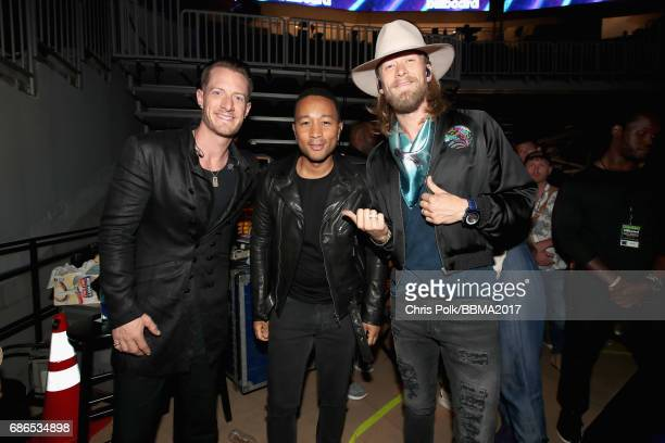 Musicians Tyler Hubbard John Legend and Brian Kelley attend the 2017 Billboard Music Awards at TMobile Arena on May 21 2017 in Las Vegas Nevada