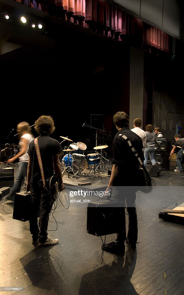 Musicians Wait on Stage