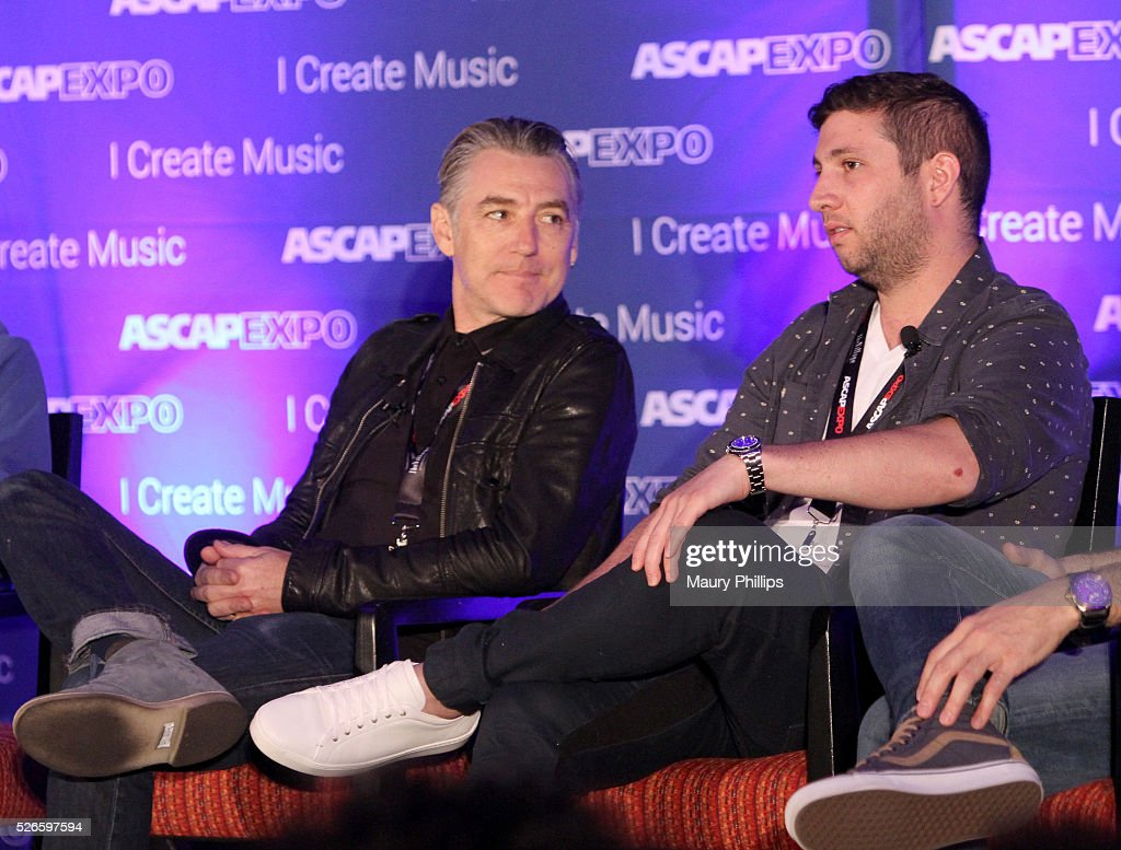 Musicians Wally Gagel and Alex Schwartz speak onstage during the 'Art of Collaboration' panel, part of the 2016 ASCAP 'I Create Music' EXPO on April 30, 2016 in Los Angeles, California.