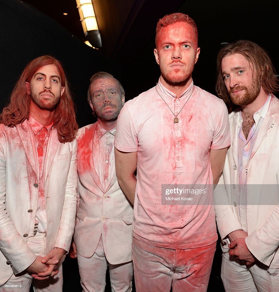 Musicians Wayne Wing Sermon, <a gi-track='captionPersonalityLinkClicked' href=/galleries/search?phrase=Ben+McKee&family=editorial&specificpeople=8995201 ng-click='$event.stopPropagation()'>Ben McKee</a>, <a gi-track='captionPersonalityLinkClicked' href=/galleries/search?phrase=Dan+Reynolds&family=editorial&specificpeople=8995077 ng-click='$event.stopPropagation()'>Dan Reynolds</a> and Daniel Platzman of Imagine Dragons attend the 56th GRAMMY Awards at Staples Center on January 26, 2014 in Los Angeles, California.