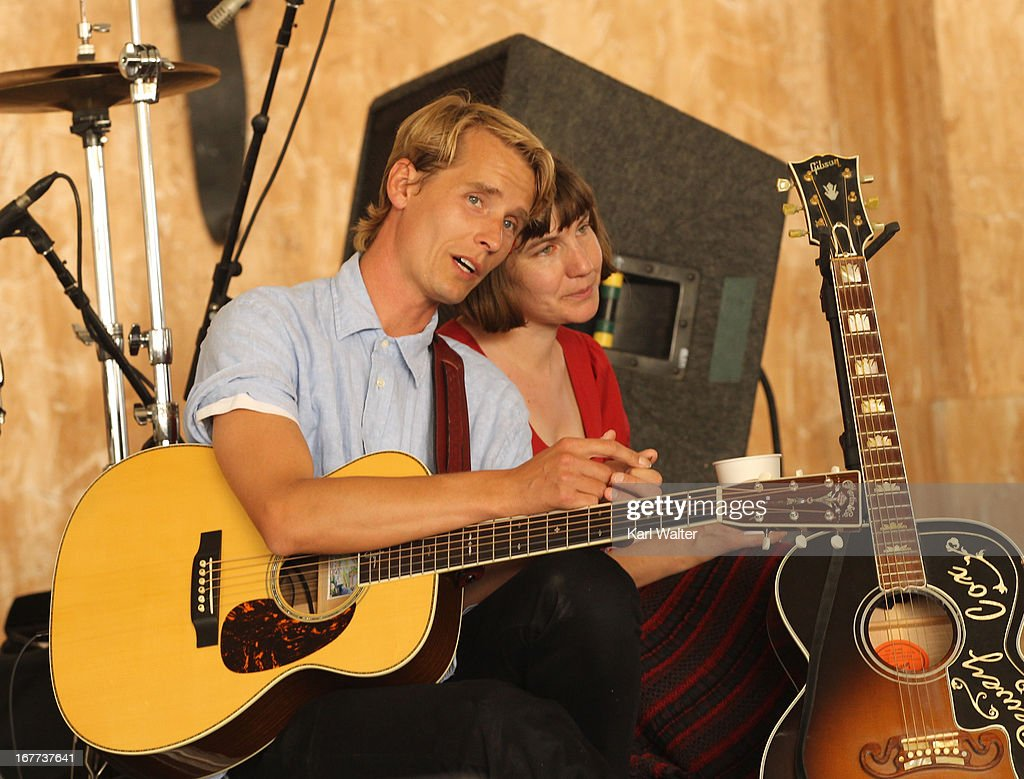 Musicians Willie Watson and Becky Stark perform onstage during 2013 Stagecoach: California's Country Music Festival held at The Empire Polo Club on April 28, 2013 in Indio, California.