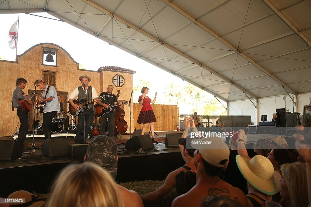 Musicians Willie Watson Dan Bern John C Reilly Tom Brosseau and Becky Stark perform onstage during 2013 Stagecoach California's Country Music...
