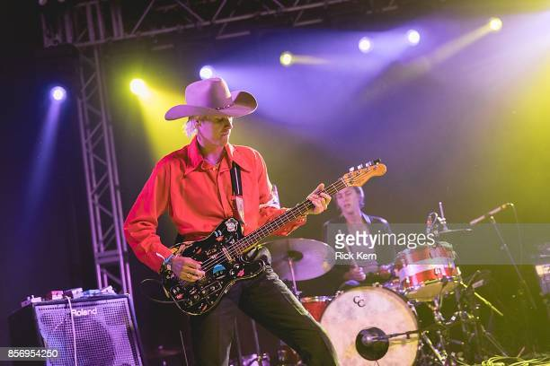 Musicians Wyatt Shears and Fletcher Shears of The Garden perform in concert at Stubb's BarBQ on October 2 2017 in Austin Texas