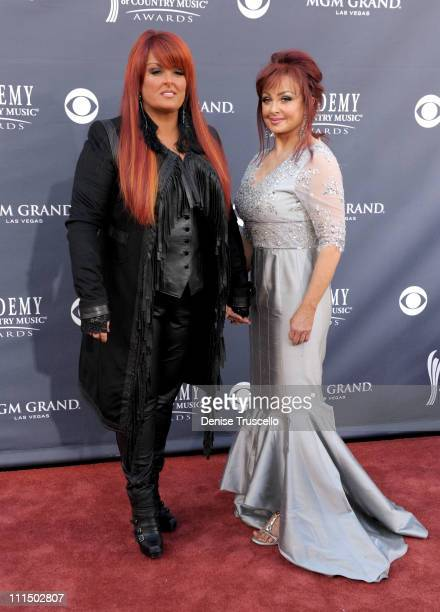 Musicians Wynonna Judd and Naomi Judd arrive at the 46th Annual Academy Of Country Music Awards RAM Red Carpet held at the MGM Grand Garden Arena on...