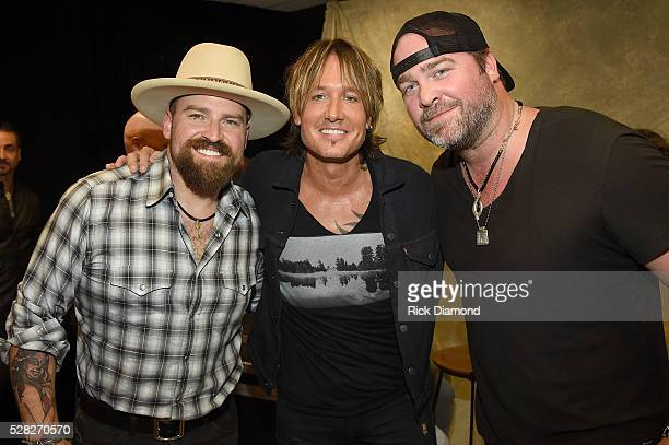 Musicians Zac Brown Keith Urban and Lee Brice attend the 2016 iHeartCountry Festival at The Frank Erwin Center on April 30 2016 in Austin Texas