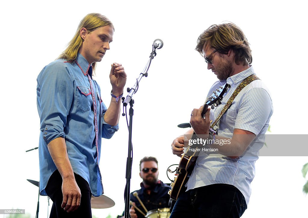Musicians Zach Chance (L) and Jonathan Clay of Jamestown Revival perform onstage during 2016 Stagecoach California's Country Music Festival at Empire Polo Club on April 30, 2016 in Indio, California.