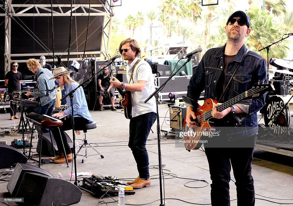 Musicians Zach Chance and Jonathan Clay of Jamestown Revival perform onstage during 2016 Stagecoach California's Country Music Festival at Empire Polo Club on April 30, 2016 in Indio, California.