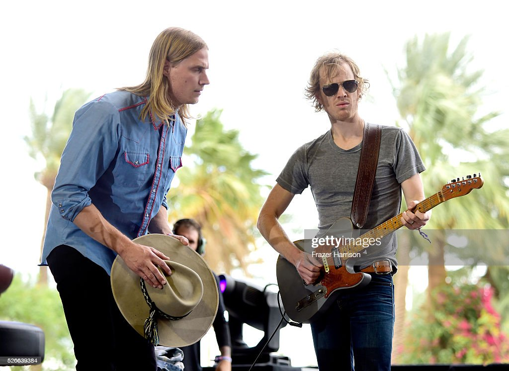 Musicians Zach Chance (L) of Jamestown Revival performs onstage during 2016 Stagecoach California's Country Music Festival at Empire Polo Club on April 30, 2016 in Indio, California.