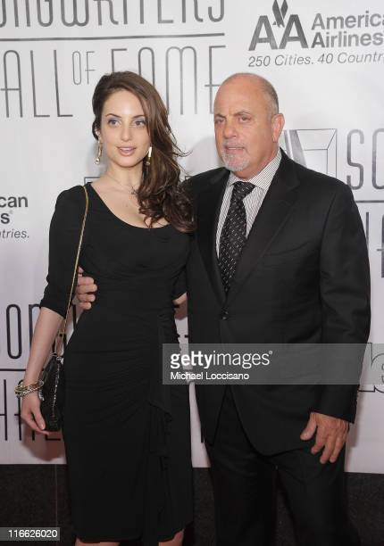 Musicians/father and daughter Alexa Ray Joel and Billy Joel attend the 42nd annual Songwriters Hall of Fame Induction Ceremony at The New York...