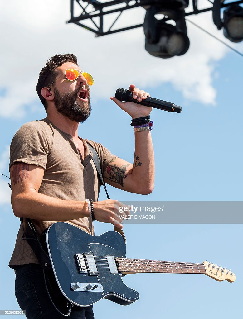 Musician/singer Matthew Ramsey from Old Dominion performs at Stagecoach 2016, in Indio, California, on May 1, 2016. / AFP / VALERIE