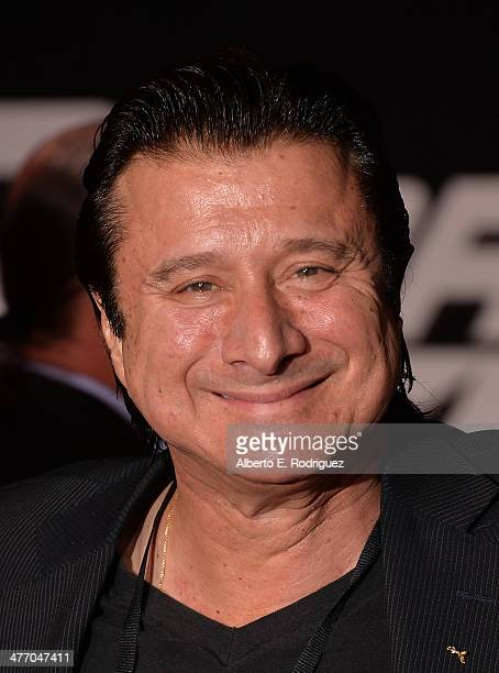 Musician/Singer Steve Perry arrives for the premiere of DreamWorks Pictures' 'Need For Speed' at TCL Chinese Theatre on March 6 2014 in Hollywood...