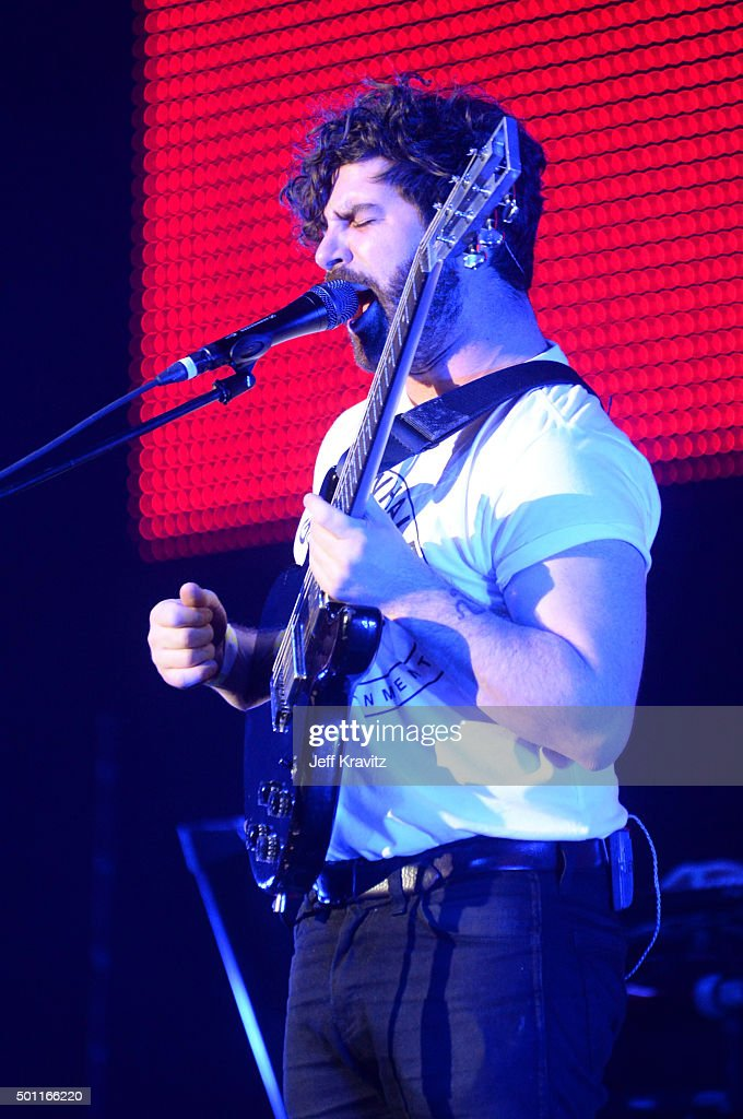 Musician/singer Yannis Philippakis of the Foals performs on stage at 1067 KROQ Almost Acoustic Christmas 2015 at The Forum on December 12 2015 in...