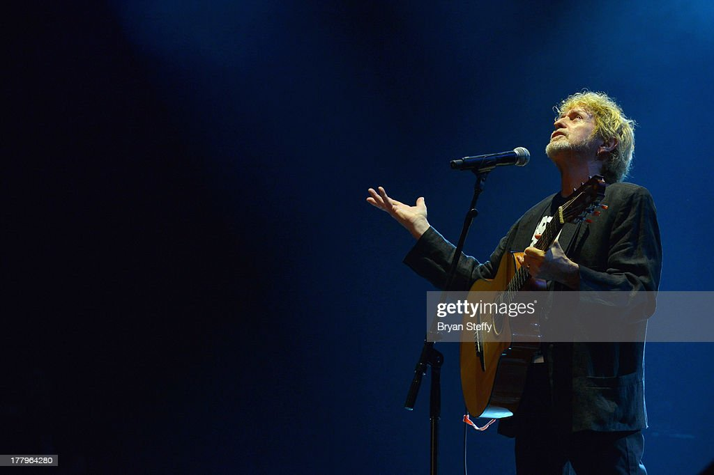 Musician/songwriter Jon Anderson performs at the Vegas Rocks! Magazine Music Awards 2013 at the Joint inside the Hard Rock Hotel & Casino on August 25, 2013 in Las Vegas, Nevada.