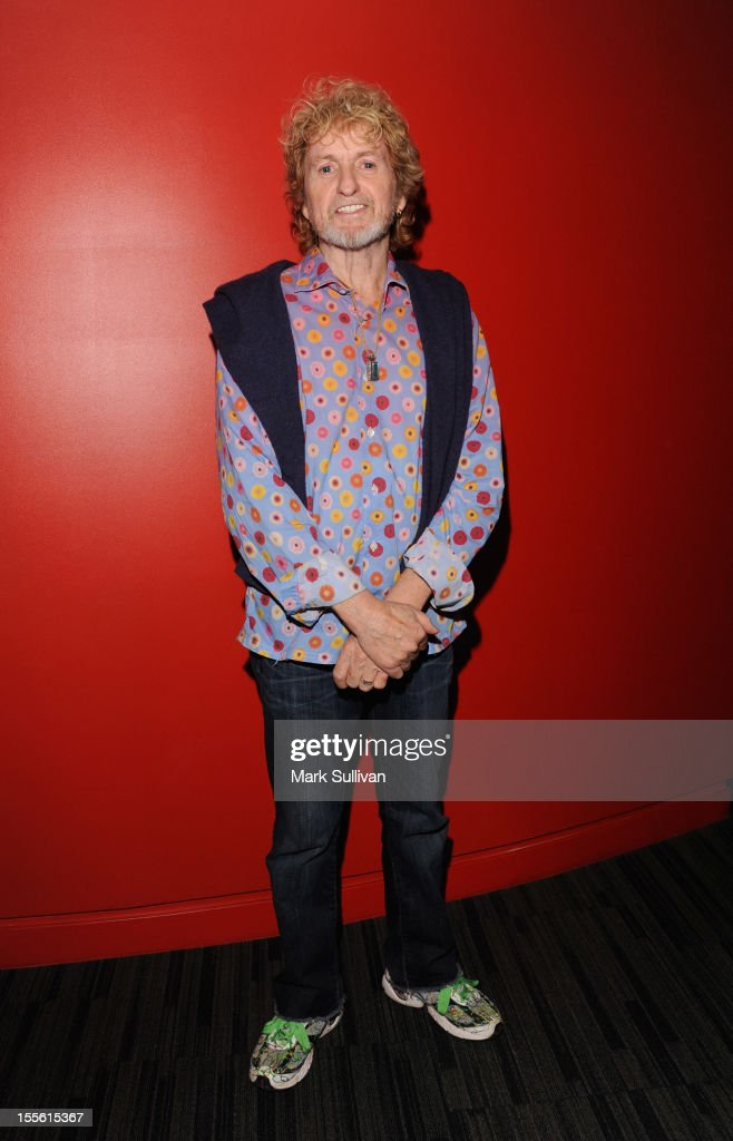 Musician/songwriter Jon Anderson poses before An Evening With Jon Anderson at The GRAMMY Museum on November 5, 2012 in Los Angeles, California.