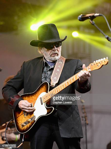 Musician/songwriter Merle Haggard performs onstage during day 3 of the Big Barrel Country Music Festival on June 28 2015 in Dover Delaware