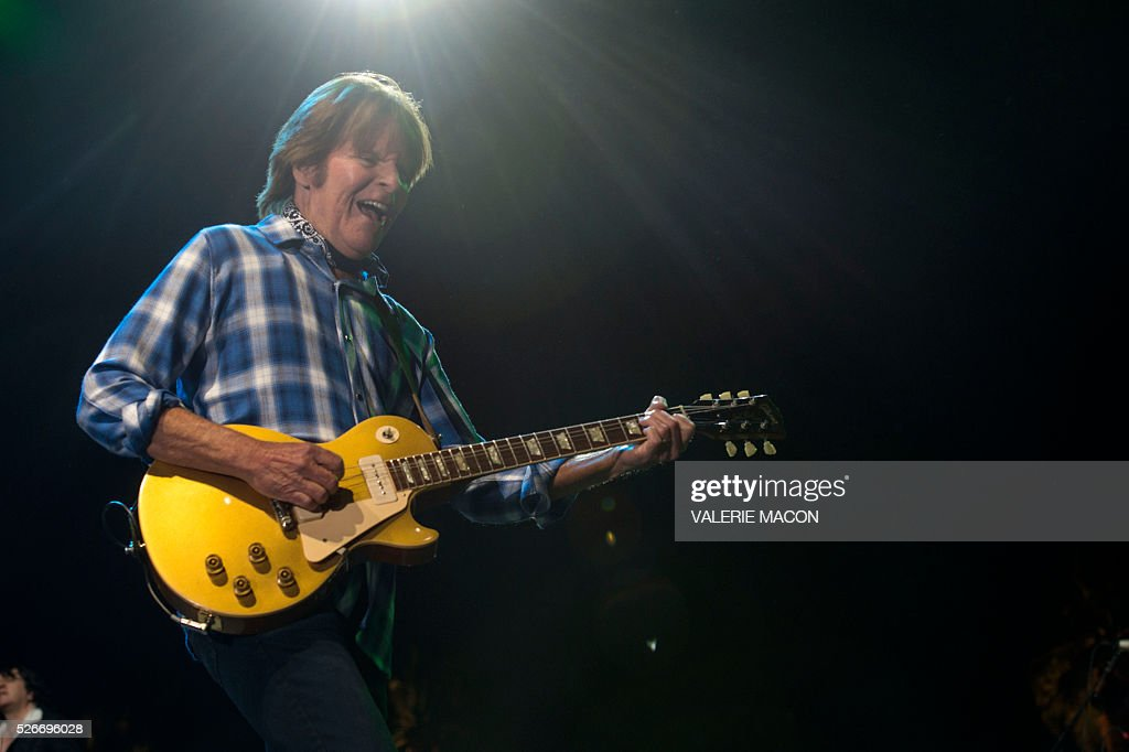 Musician/Songwriter/Singer John Fogerty performs at Stagecoach 2016, in Indio, California, on April 30, 2016. / AFP / VALERIE