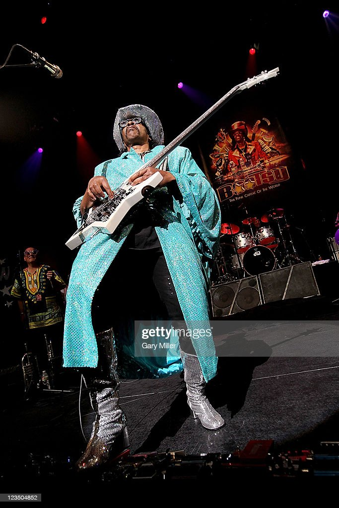 Musician/vocalist <a gi-track='captionPersonalityLinkClicked' href=/galleries/search?phrase=Bootsy+Collins&family=editorial&specificpeople=221725 ng-click='$event.stopPropagation()'>Bootsy Collins</a> performs in concert at ACL Live on June 19, 2011 in Austin, Texas.