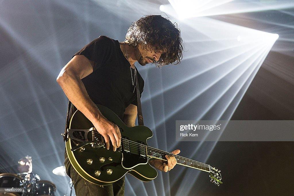 Musician/vocalist Chris Cornell of Soundgarden performs in concert at Austin Music Hall on May 25, 2013 in Austin, Texas.