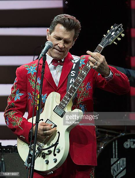 Musician/vocalist Chris Isaak performs in concert at ACL Live on August 26 2012 in Austin Texas
