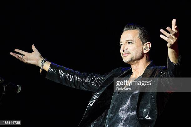 Musician/vocalist Dave Gahan of Depeche Mode performs on stage during weekend one day one of the Austin City Limits Music Festival at Zilker Park on...