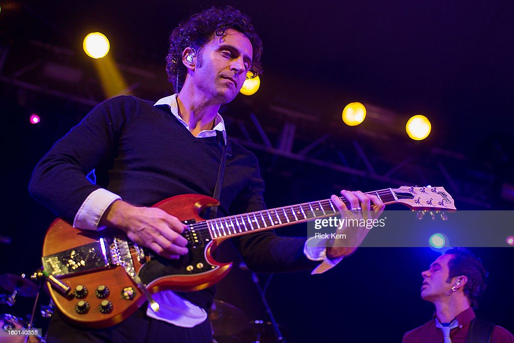 Musician/vocalist Dweezil Zappa performs as part of Zappa Plays Zappa in concert at Stubb's Bar-B-Q on January 26, 2013 in Austin, Texas.
