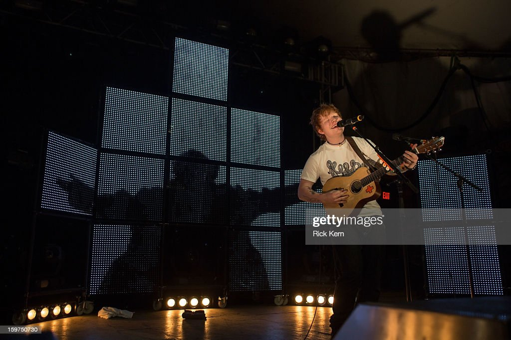 Musician/vocalist <a gi-track='captionPersonalityLinkClicked' href=/galleries/search?phrase=Ed+Sheeran&family=editorial&specificpeople=7604356 ng-click='$event.stopPropagation()'>Ed Sheeran</a> performs in concert at Stubb's Bar-B-Q on January 19, 2013 in Austin, Texas.