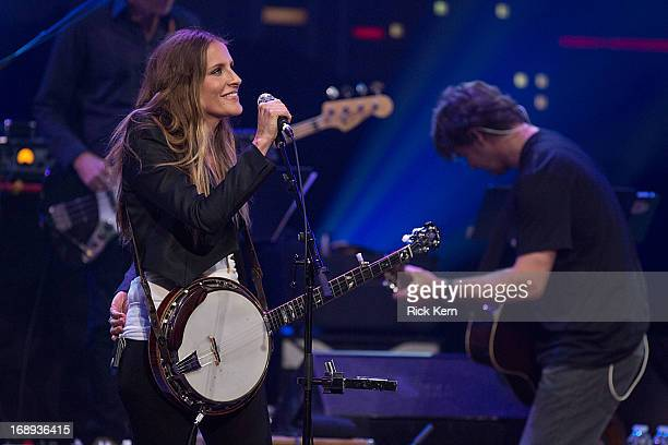 Musician/vocalist Emily Robinson of the Court Yard Hounds performs in concert during the KLRU AllStar Celebration at ACL Live on May 16 2013 in...